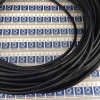 Mangueira tubo poliuretano tpu preto 8x1,25mm cod. 003440