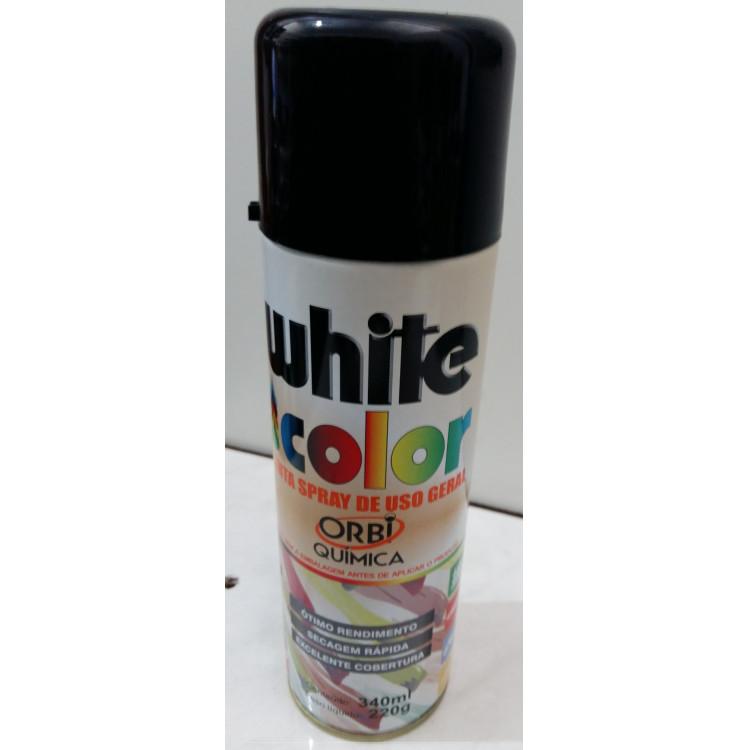 Tinta spray 340ml preto orbi