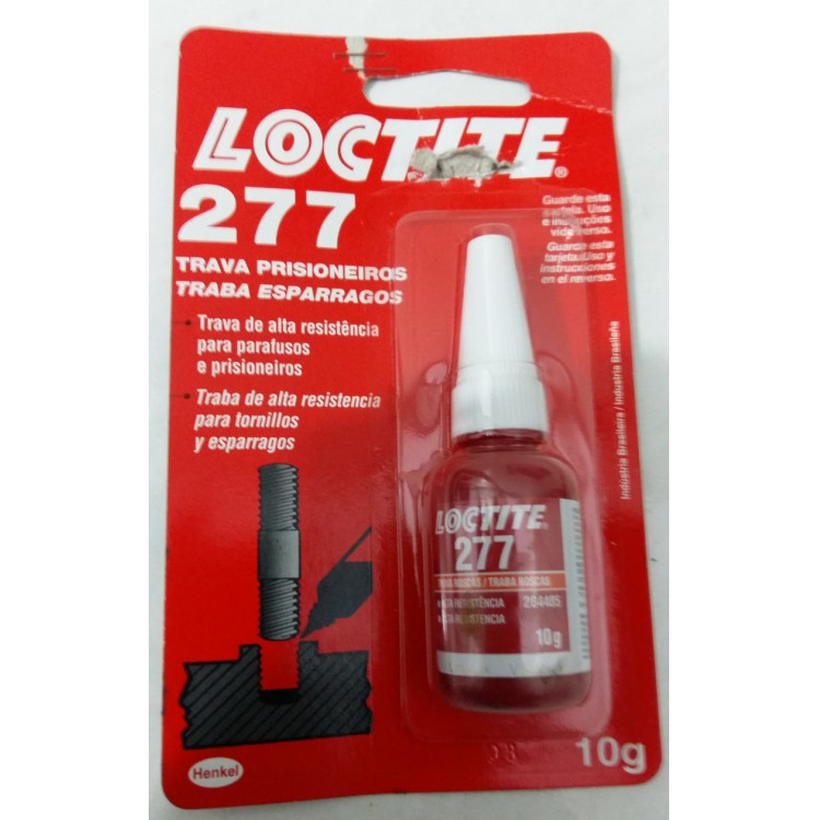 Trava Rosca Auto Lock Loctite 277 10g Vermelho