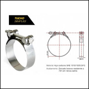 Abraçadeira Tucho Simples 113x121mm Aço Carbono
